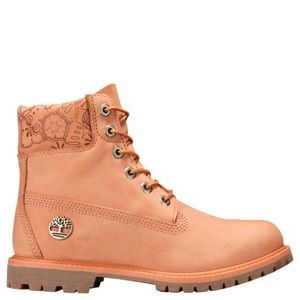 Peach Timberland Waterproof Boots 6.5
